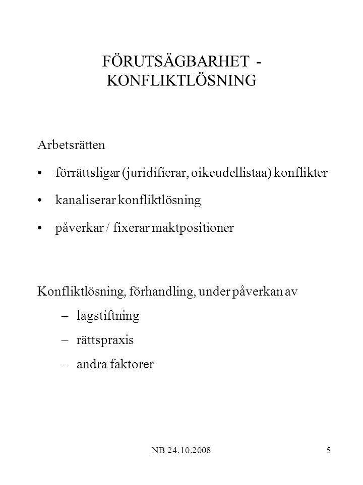 FÖRUTSÄGBARHET - KONFLIKTLÖSNING