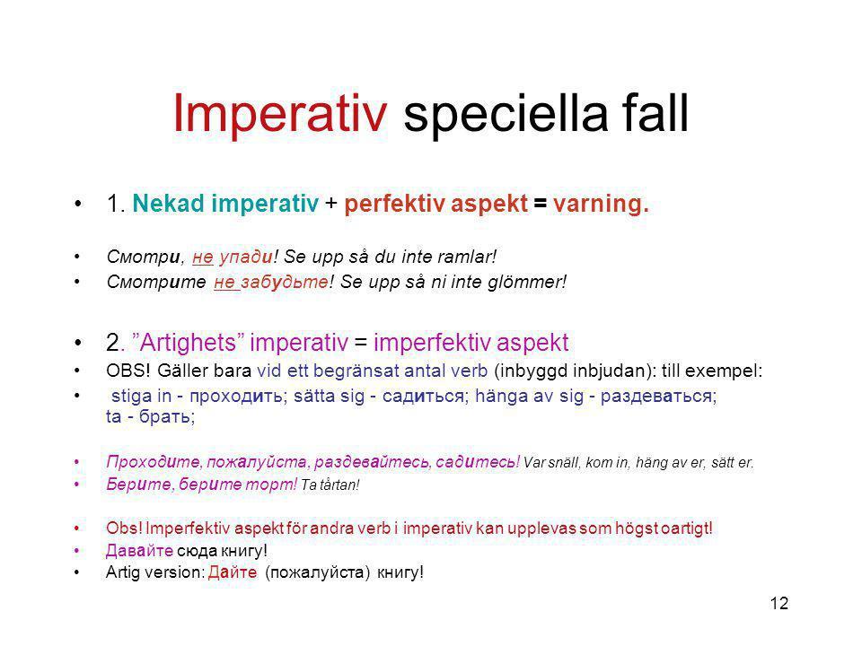Imperativ speciella fall