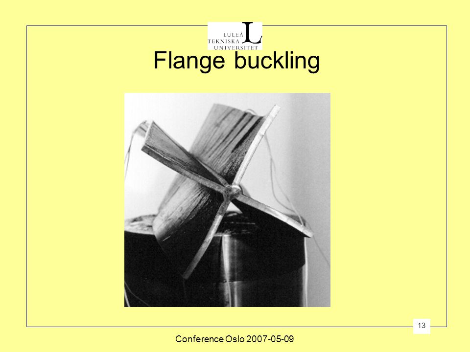 Flange buckling Conference Oslo 2007-05-09