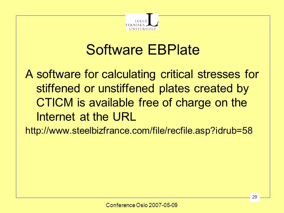 Software EBPlate
