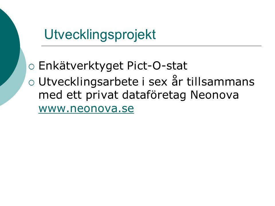 Utvecklingsprojekt Enkätverktyget Pict-O-stat