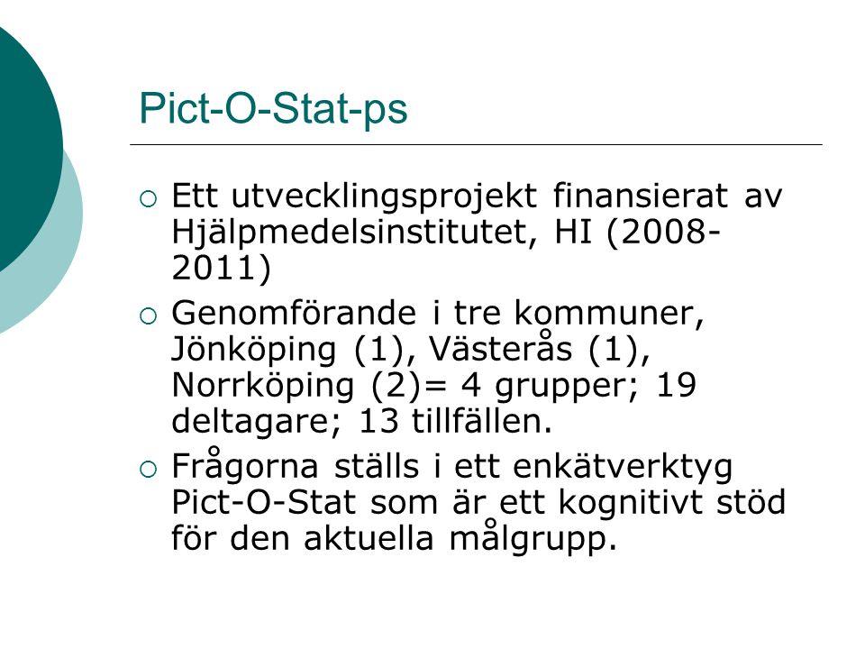 Pict-O-Stat-ps Ett utvecklingsprojekt finansierat av Hjälpmedelsinstitutet, HI (2008-2011)
