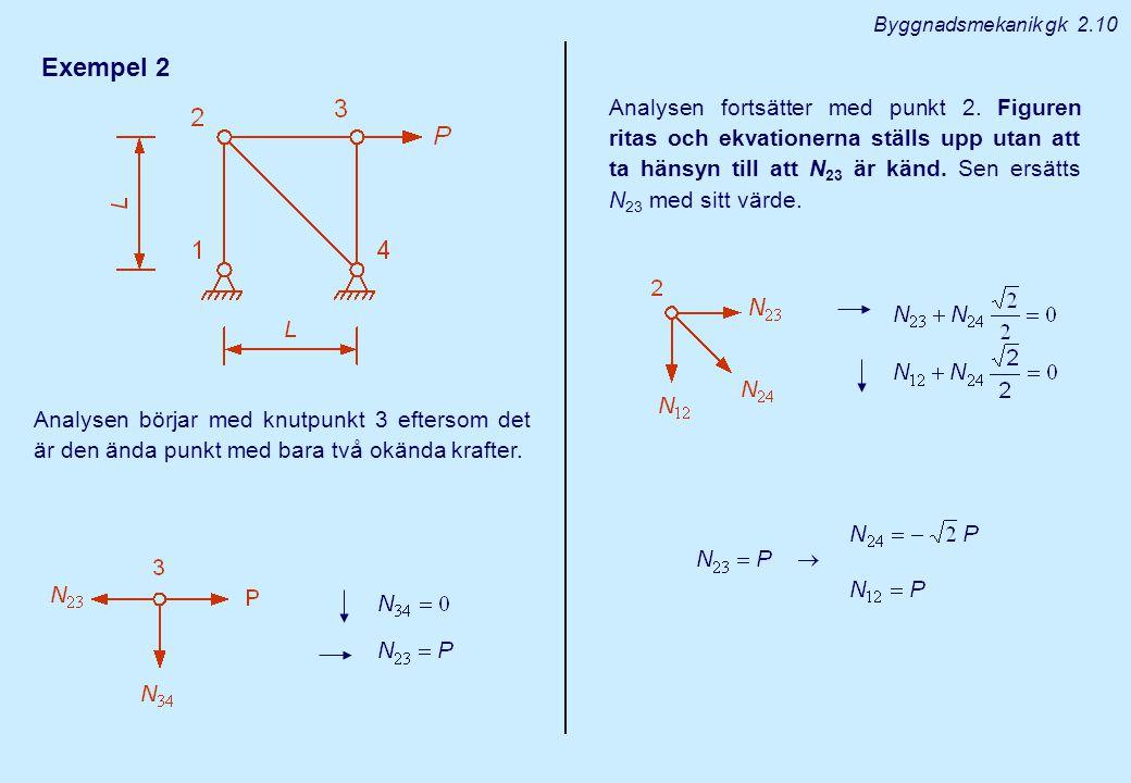 Byggnadsmekanik gk 2.10 Exempel 2.