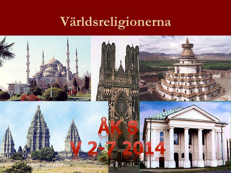 Världsreligionerna Åk 8 V 2-7 2014