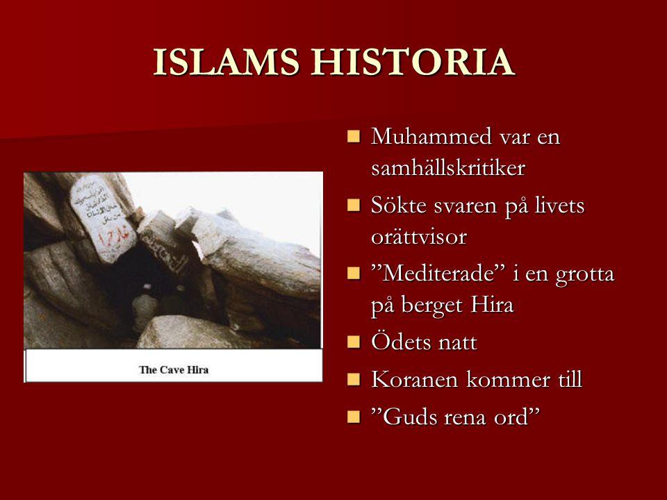 ISLAMS HISTORIA Muhammed var en samhällskritiker