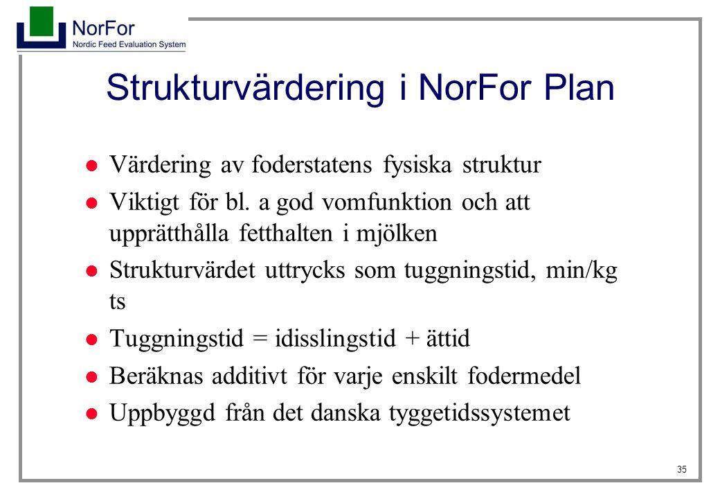 Strukturvärdering i NorFor Plan
