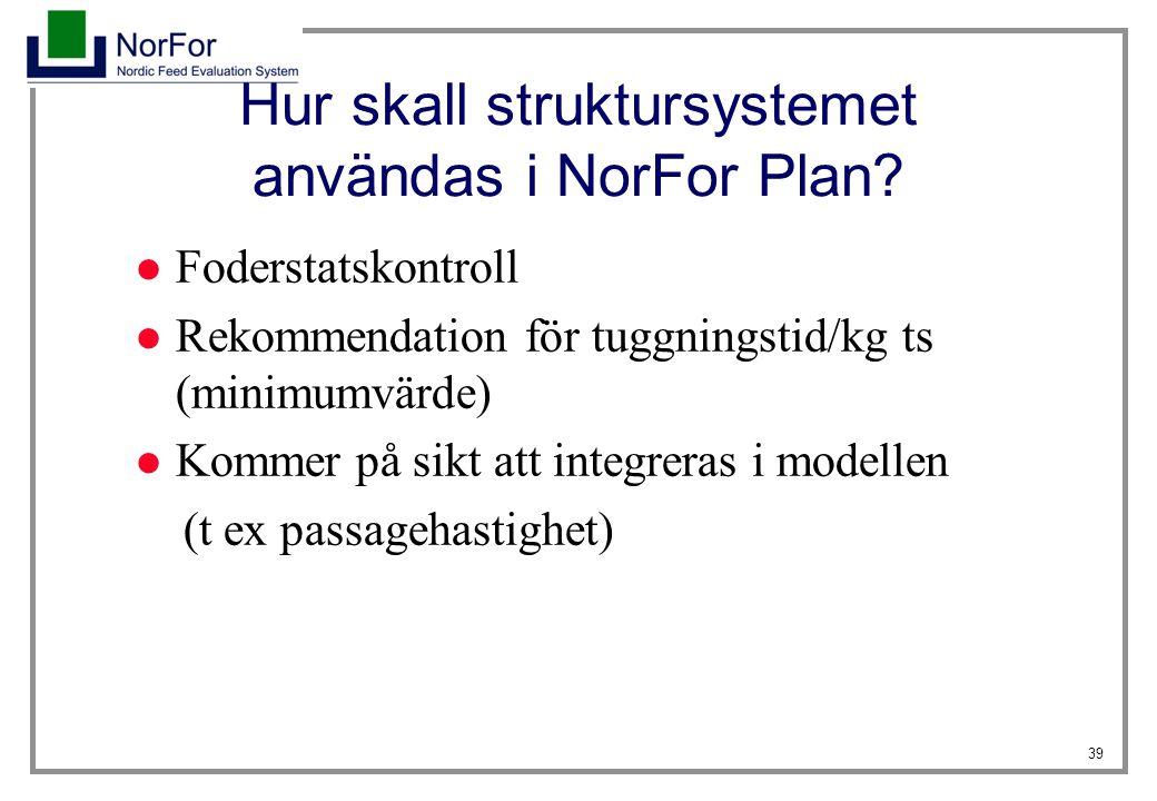 Hur skall struktursystemet användas i NorFor Plan