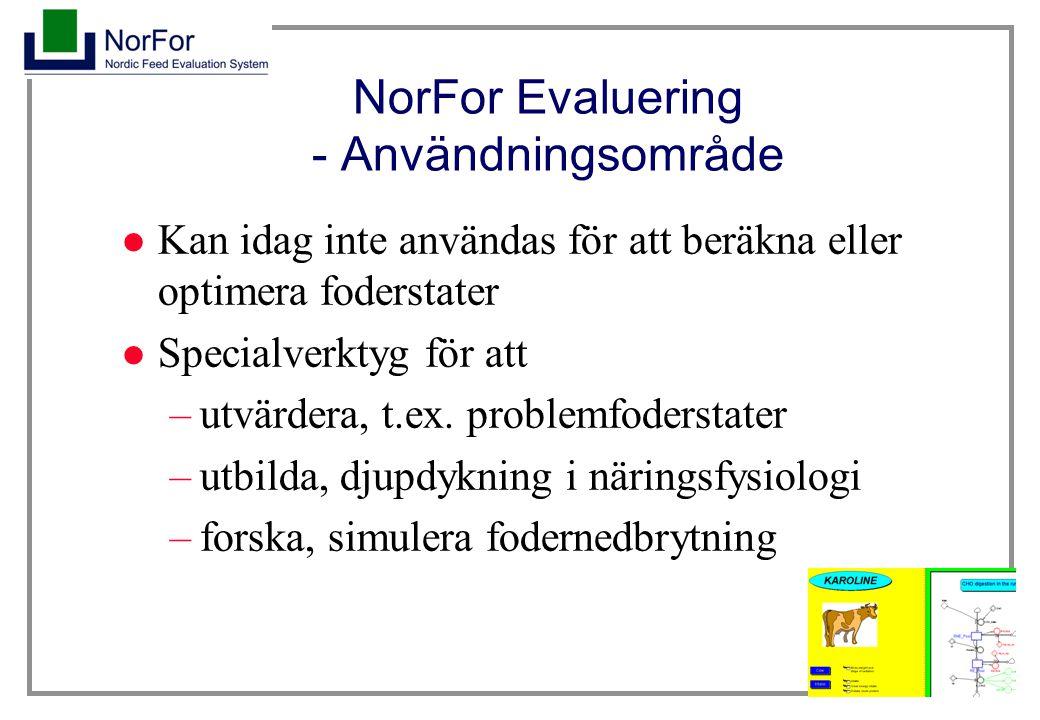 NorFor Evaluering - Användningsområde