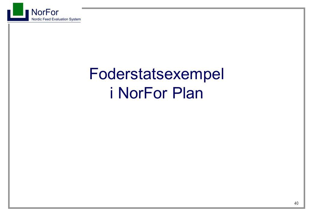 Foderstatsexempel i NorFor Plan