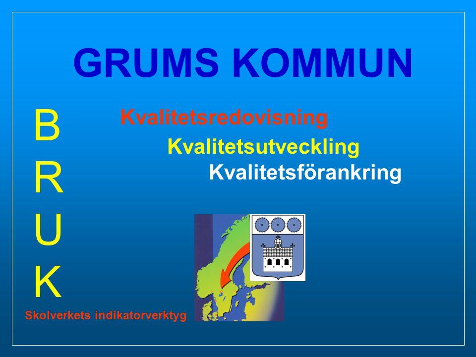 BRUK GRUMS KOMMUN Kvalitetsredovisning Kvalitetsutveckling