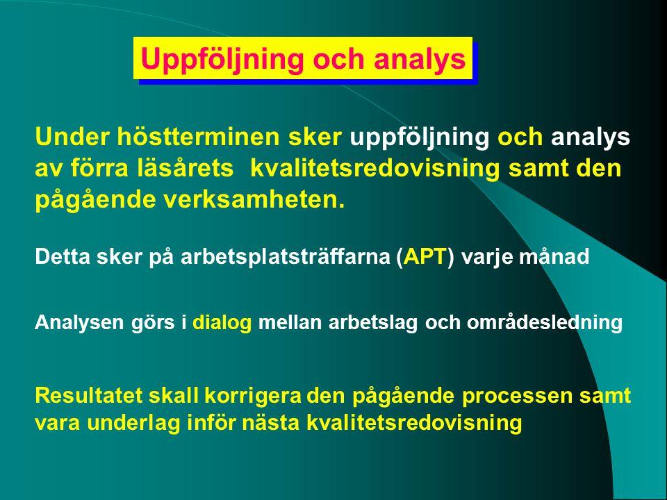Uppföljning och analys