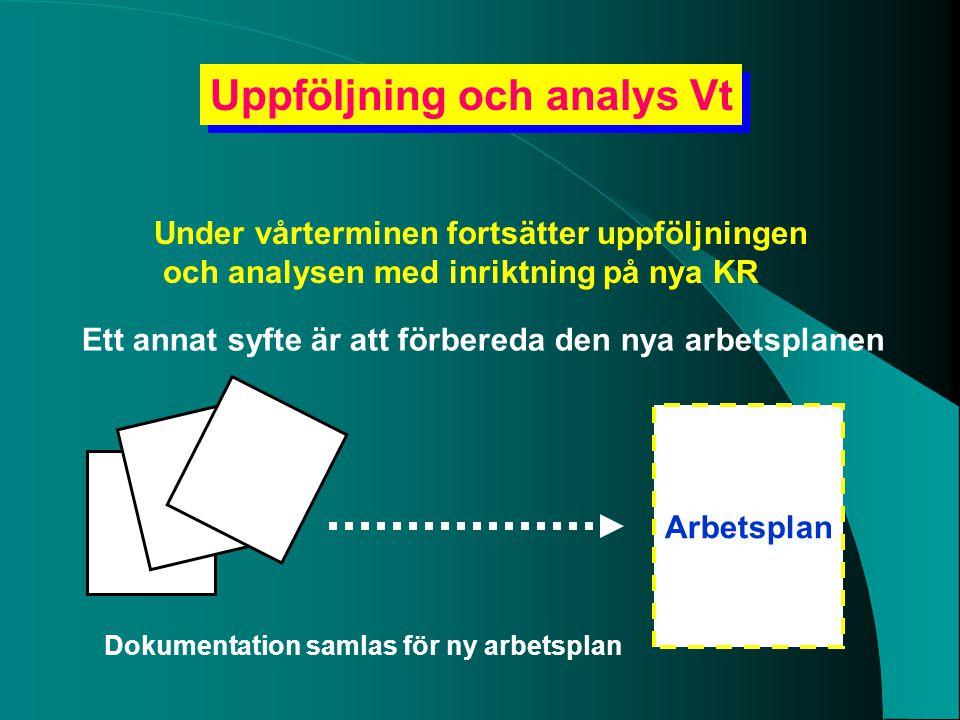 Uppföljning och analys Vt