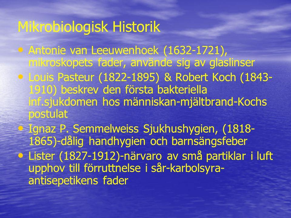 Mikrobiologisk Historik