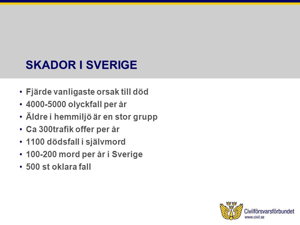 SKADOR I SVERIGE Fjärde vanligaste orsak till död