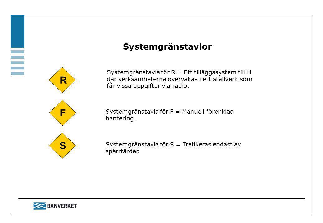 R F S Systemgränstavlor