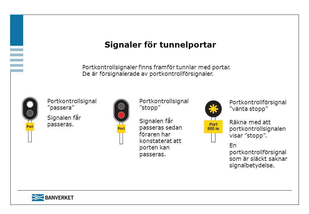 Signaler för tunnelportar