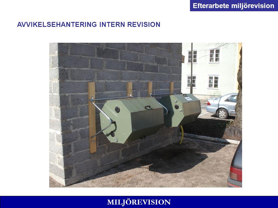 MILJÖREVISION Efterarbete miljörevision