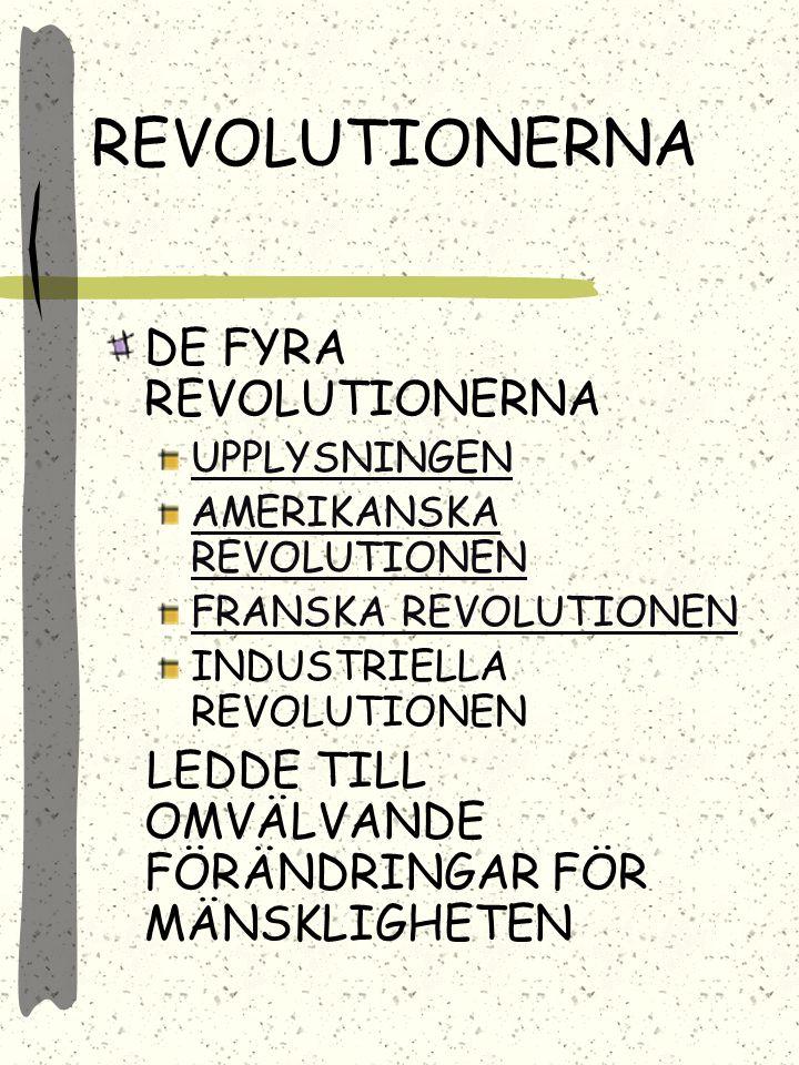 REVOLUTIONERNA DE FYRA REVOLUTIONERNA