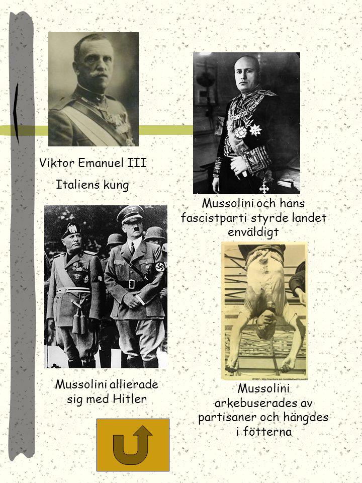 Mussolini och hans fascistparti styrde landet enväldigt