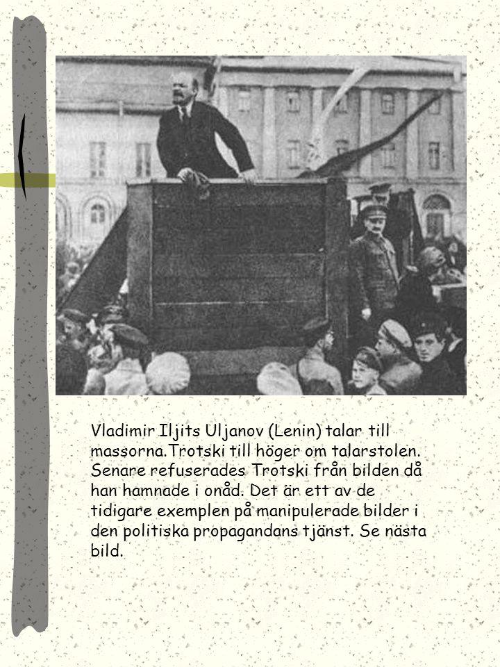 Vladimir Iljits Uljanov (Lenin) talar till massorna