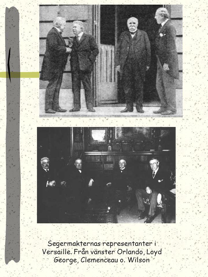 Segermakternas representanter i Versaille