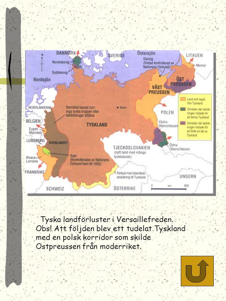 Tyska landförluster i Versaillefreden. Obs