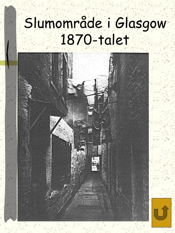 Slumområde i Glasgow 1870-talet