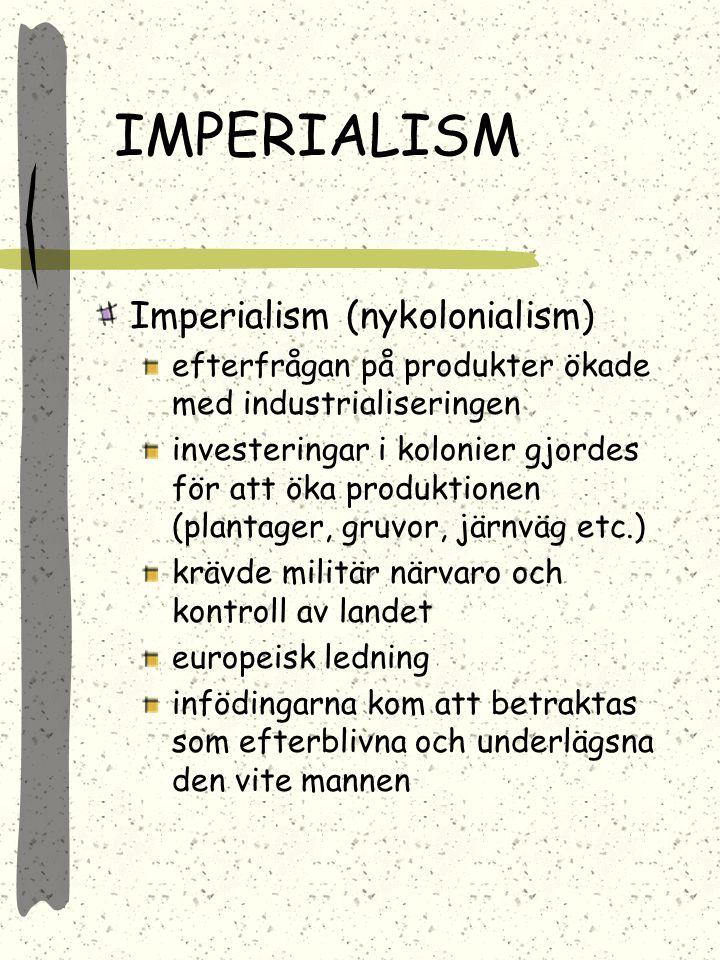 IMPERIALISM Imperialism (nykolonialism)