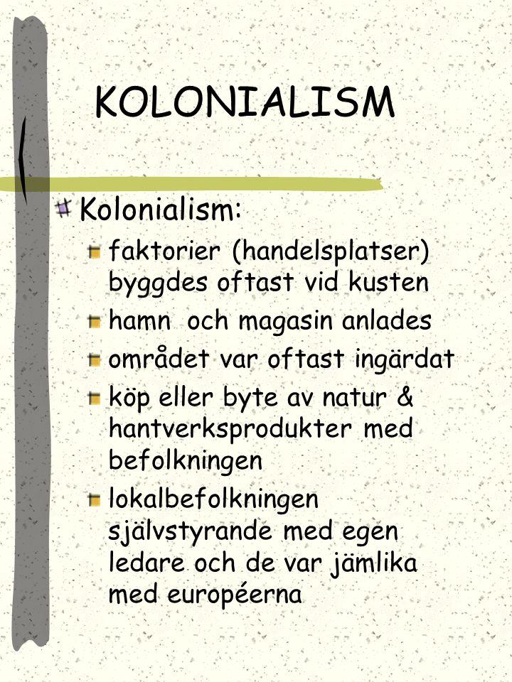 KOLONIALISM Kolonialism: