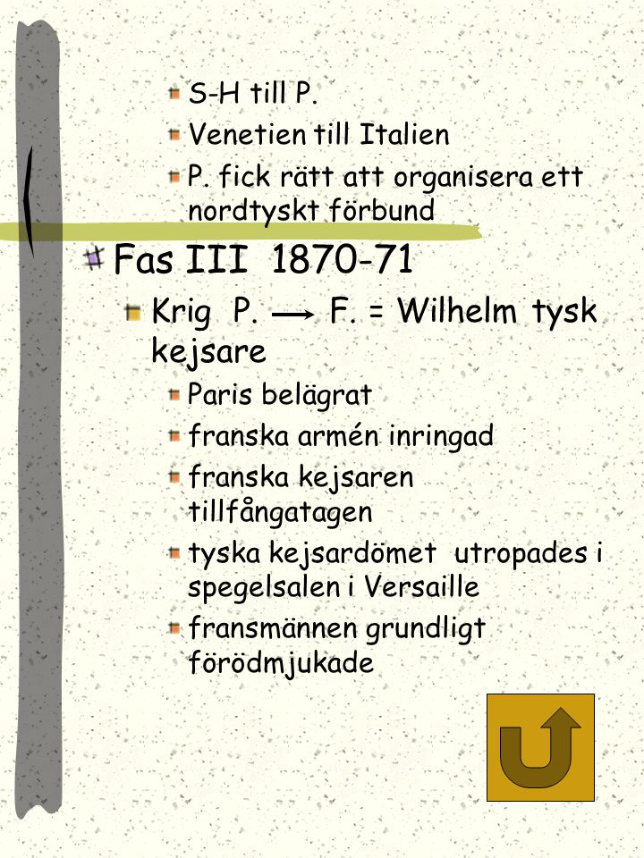 Fas III 1870-71 Krig P. F. = Wilhelm tysk kejsare S-H till P.