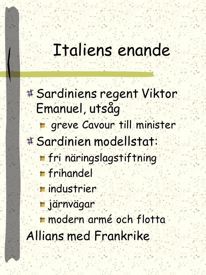 Italiens enande Sardiniens regent Viktor Emanuel, utsåg