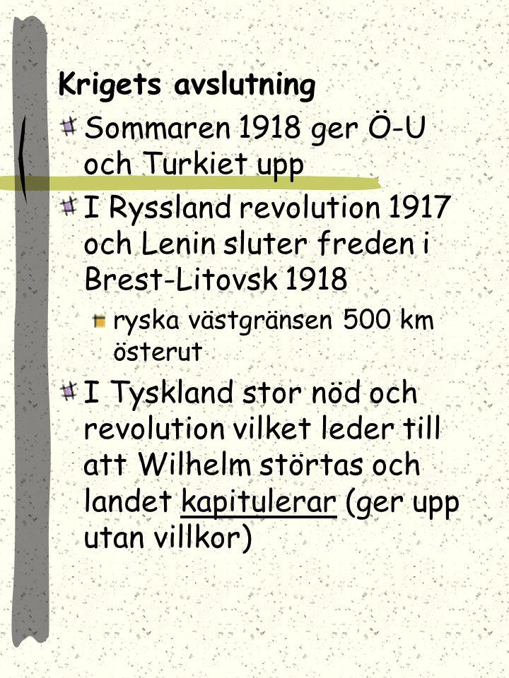 Sommaren 1918 ger Ö-U och Turkiet upp