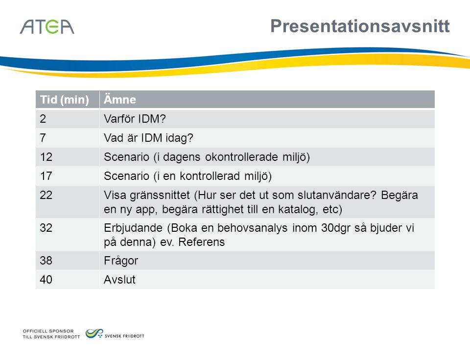 Presentationsavsnitt