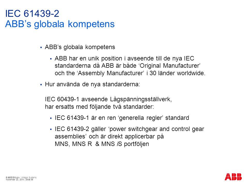IEC 61439-2 ABB's globala kompetens