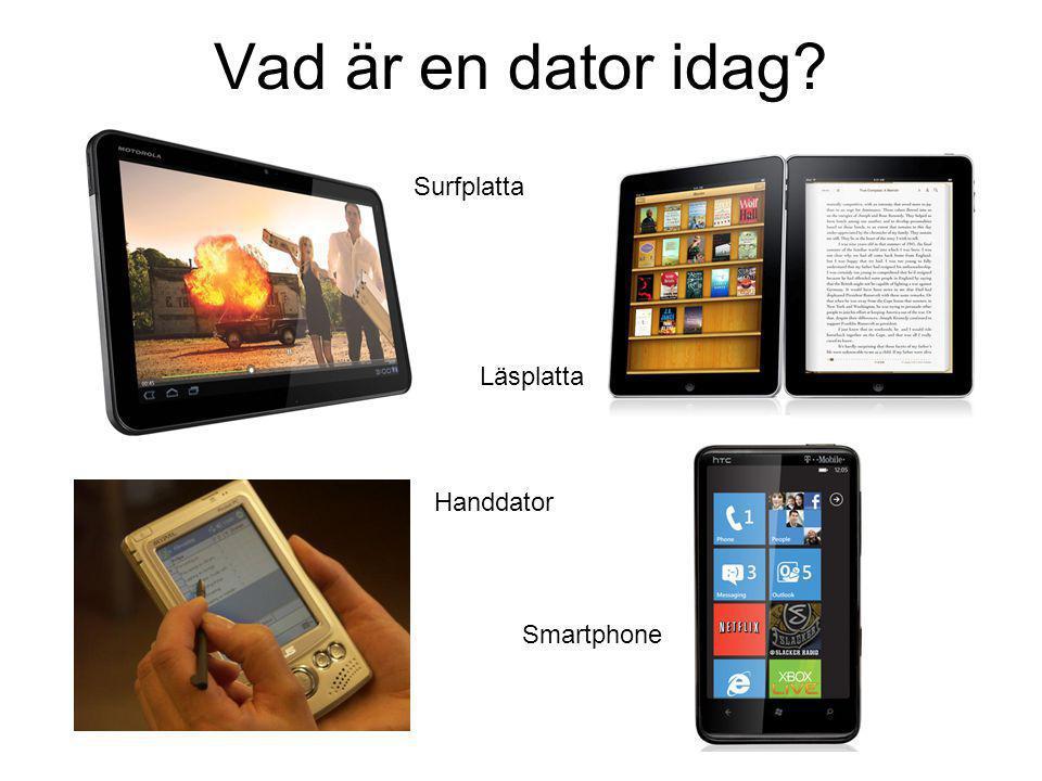 Vad är en dator idag Surfplatta Läsplatta Handdator Smartphone