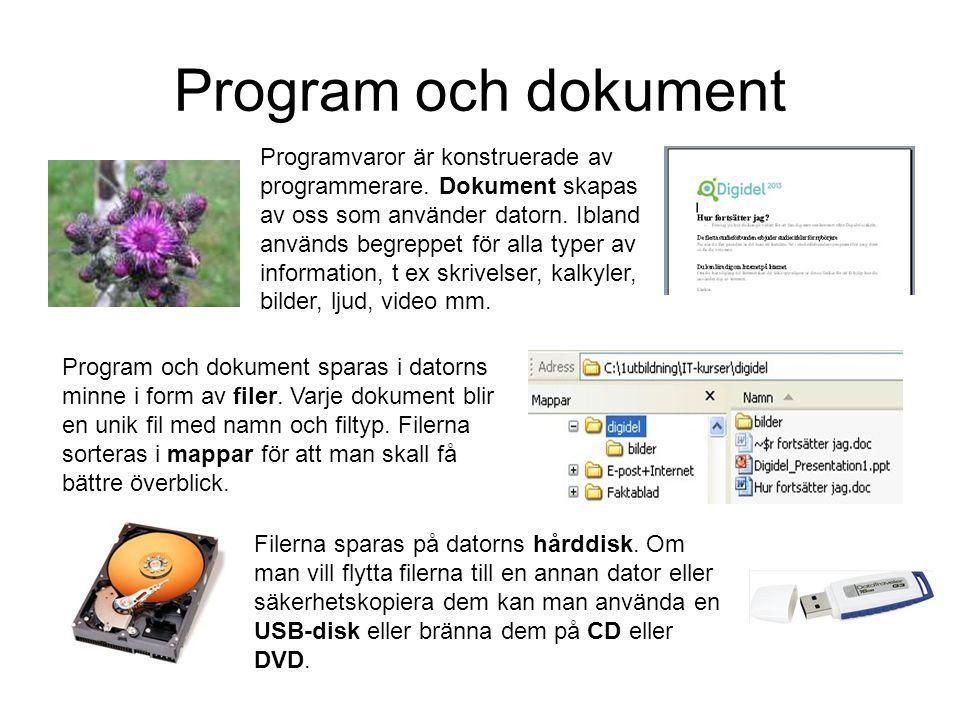 Program och dokument