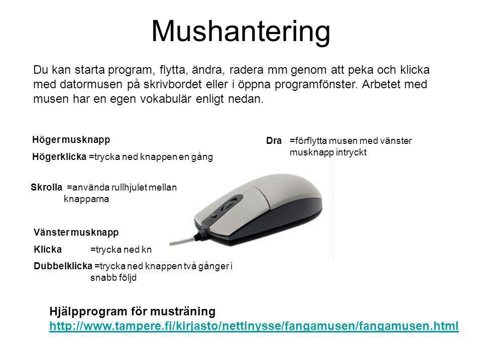 Mushantering