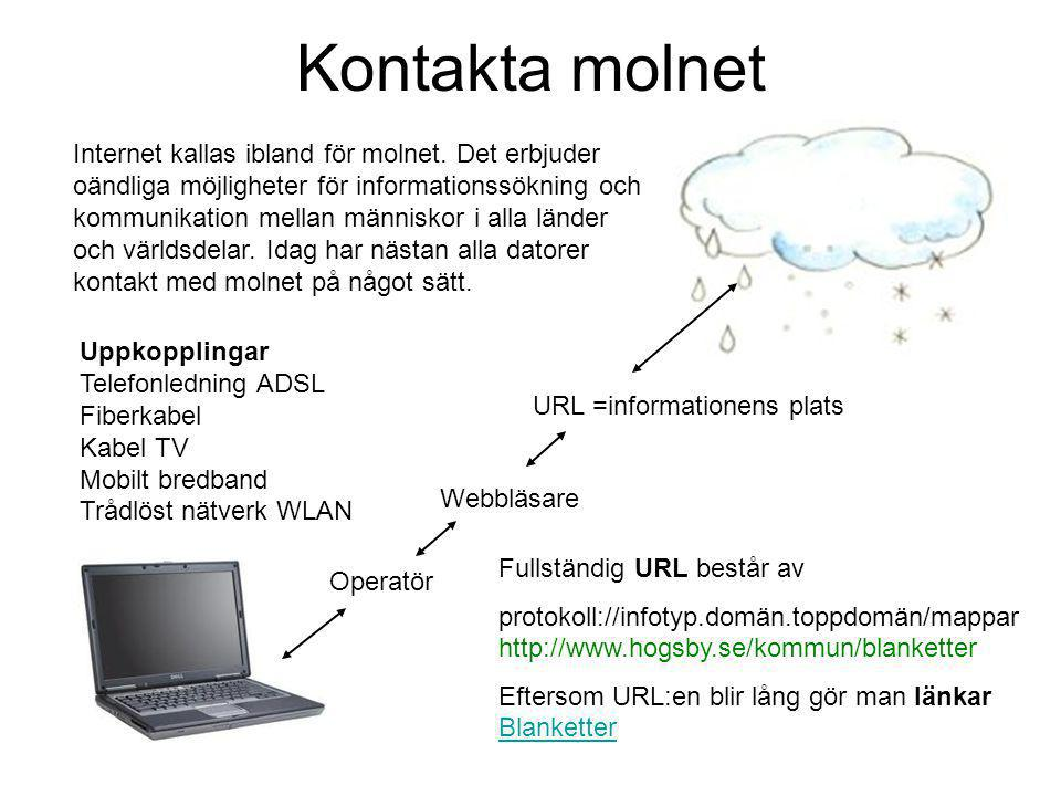 Kontakta molnet