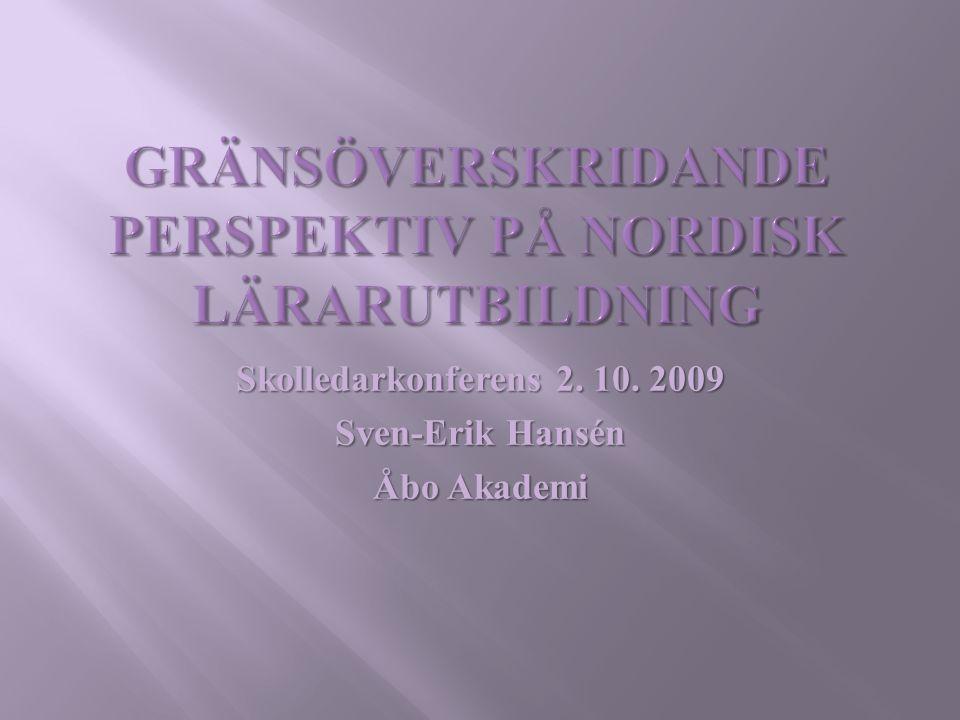 Gränsöverskridande perspektiv på nordisk lärarutbildning