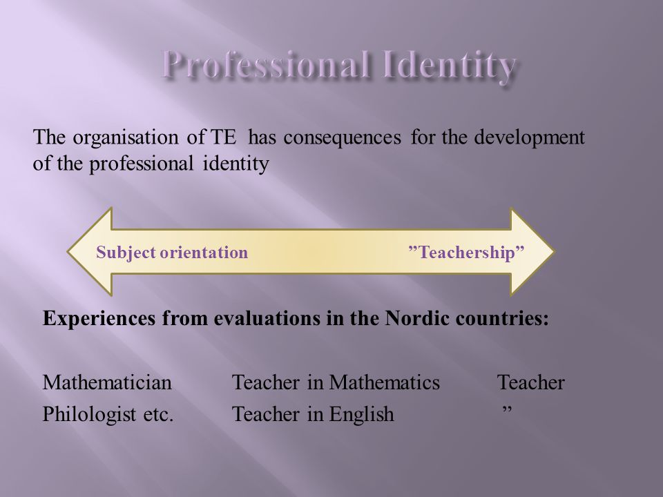 Professional Identity