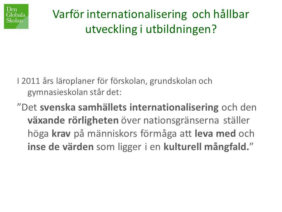 Varför internationalisering och hållbar utveckling i utbildningen