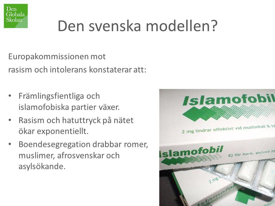Den svenska modellen Europakommissionen mot