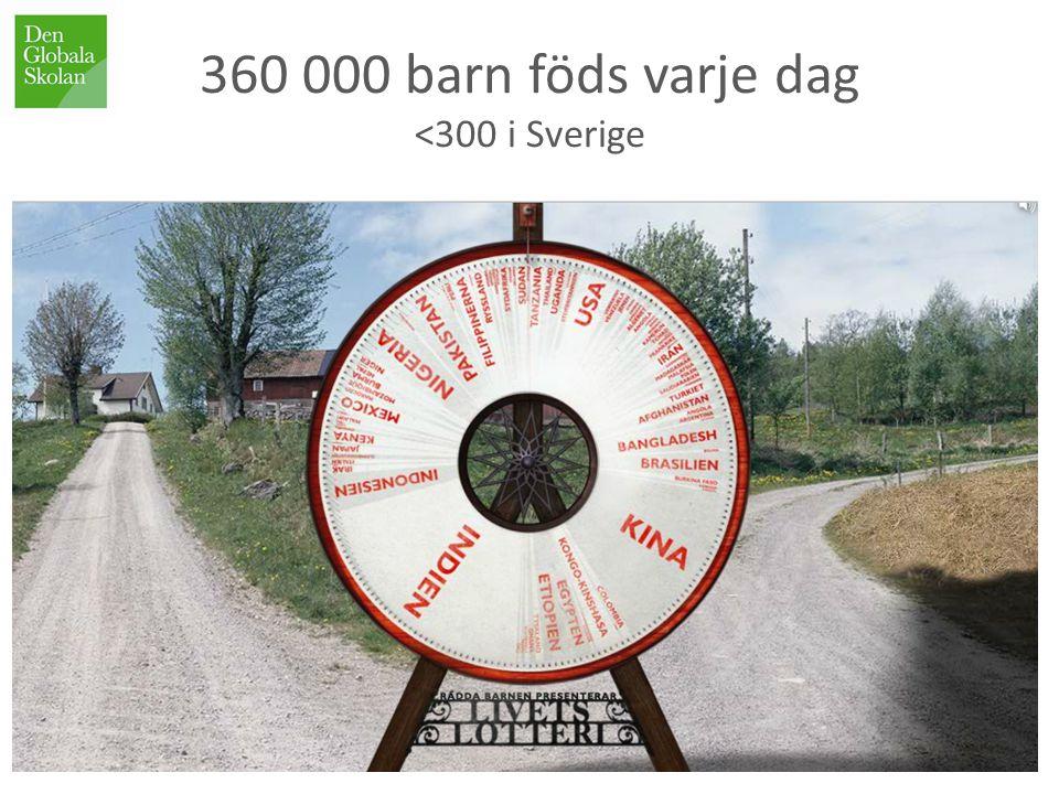 360 000 barn föds varje dag <300 i Sverige