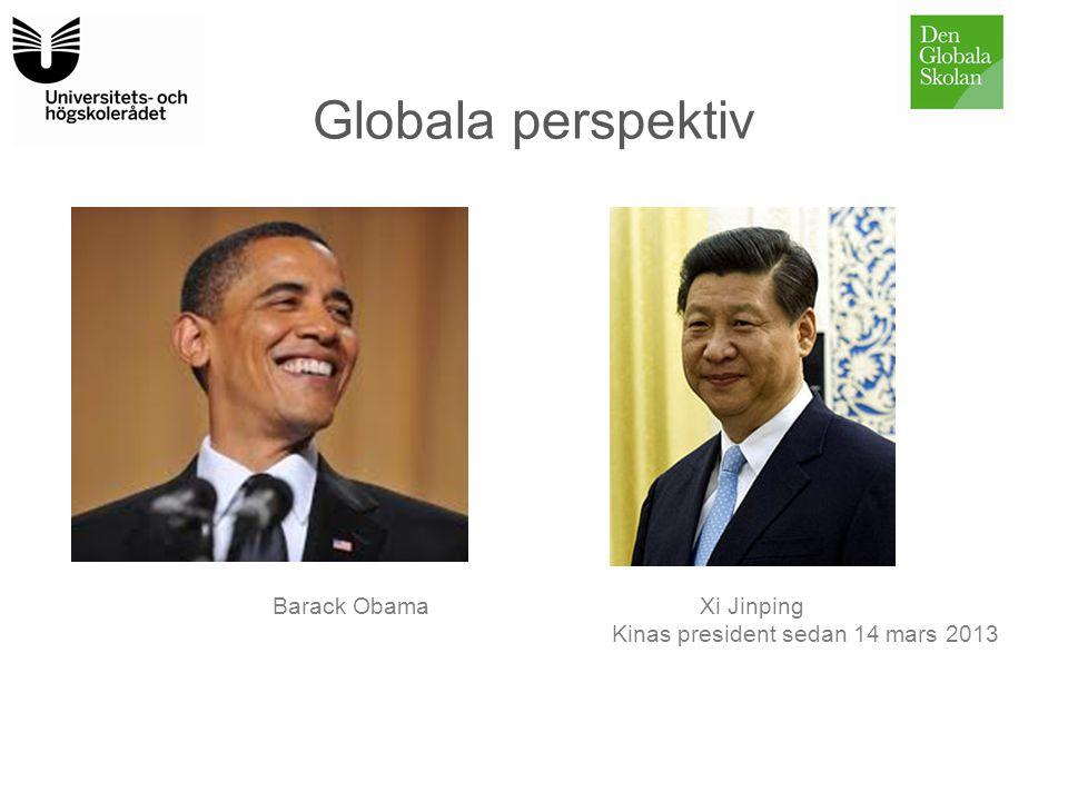 Globala perspektiv Barack Obama Xi Jinping