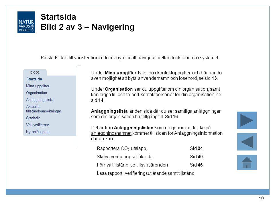 Startsida Bild 2 av 3 – Navigering