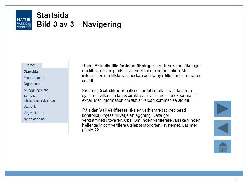 Startsida Bild 3 av 3 – Navigering