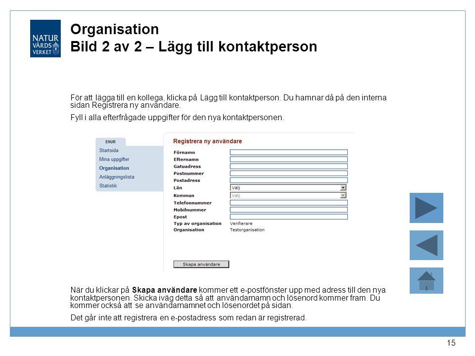 Organisation Bild 2 av 2 – Lägg till kontaktperson