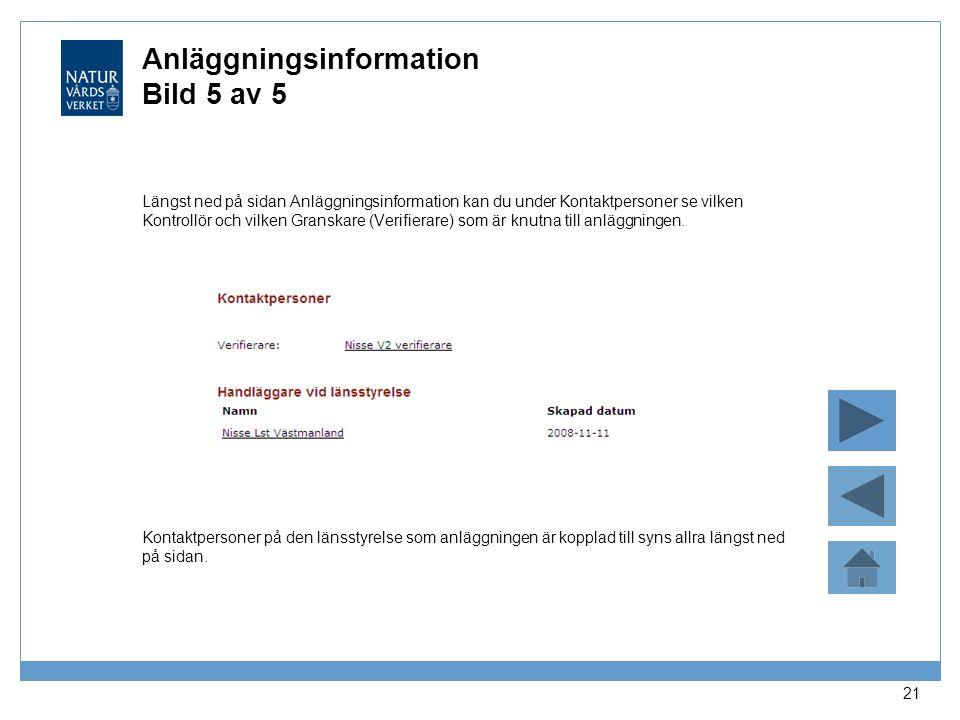Anläggningsinformation Bild 5 av 5