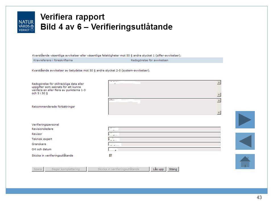 Verifiera rapport Bild 4 av 6 – Verifieringsutlåtande