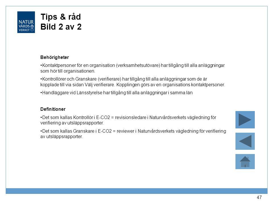 Tips & råd Bild 2 av 2 Behörigheter